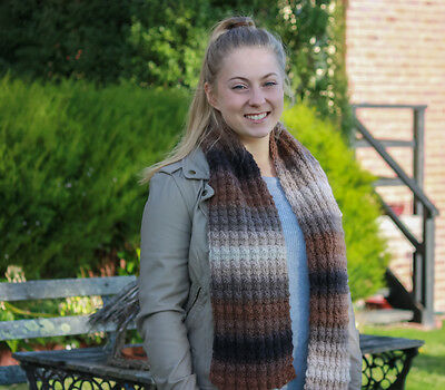 Knitting Kit: Pure Wool Tweed Stitch Scarf - Knitting Yarn, Knitting Pattern