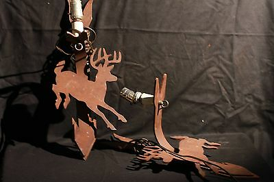 Iron Deer Sconces steampunk huntingFREE SHIPPING