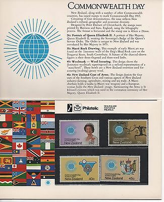 NEW ZEALAND - Commonwealth Day 1983 - Presentation Pack of MINT Stamps