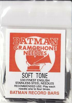 100 Top Quality Gramophone Needles (Soft Tone) - New 78Rpm Records