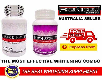 1 Luxxe White Glutathione + Luxxe Protect Grapeseed 30 Capsules Free ExpressPost
