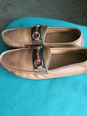 GUCCI  Vintage Women's. Leather Loafers Shoes 6-6 1/2 US