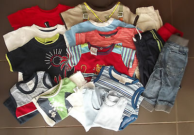 Baby Boy Size 00 Clothing Assorted Tee Tops Bottoms 18 Preloved Pieces