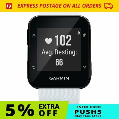 Garmin Forerunner 35 - White | GPS Optical HR Smart Watch FREE Postage