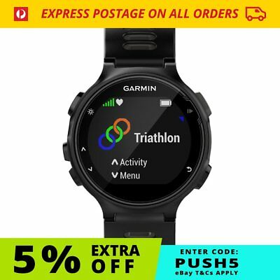 Garmin Forerunner 735XT Black/Grey | GPS Optical HR FREE Postage
