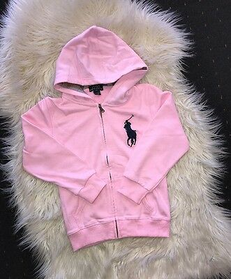 Free Postage! New Pink Girl Ralph Lauren Zipthrough Jumper Size  4T
