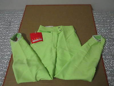 Obermeyer ski pants neon lime green deadstock nos snow tights 80s 90s women's