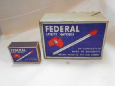 Vintage 12 Federal Match Boxes In Origanal Packing Unused Still Full Kangaroo