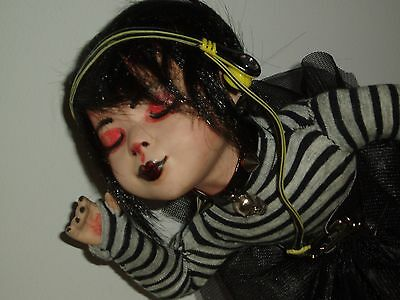 OOAK Goth/Rock Porcelain Doll**FREE POST**