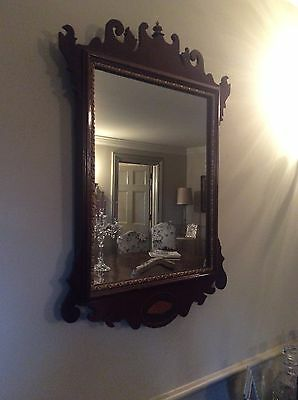 Pretty mahogany antique mirrors