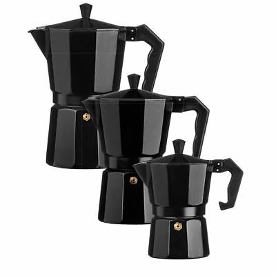 Aluminium Black Espresso Coffee Maker Stove Top Coffee Machine Moka Pot