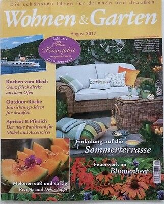 wohnen garten august 2017 magazin zeitschrift ungelesen eur 1 50 picclick de. Black Bedroom Furniture Sets. Home Design Ideas