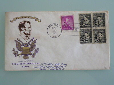 united states  fdc 1965 abraham lincoln prominent americans series