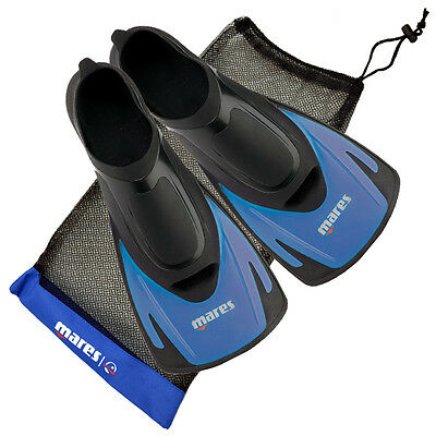 Mares Hermes Swim Training Fins, Swimming Snorkelling Short Blade Fin With Bag
