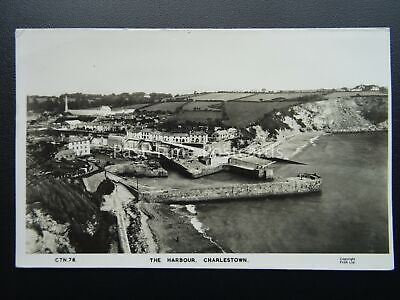 Cornwall CHARLESTOWN The Harbour - Old RP Postcard by Frith CTN78