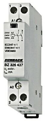 Modular contactor 20A in AC-1, 2NO contacts, coil voltage 230VAC, width 1M
