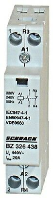 Modular contactor 20A in AC-1, 1NO+1NC contacts, coil voltage 230VAC, width 1M