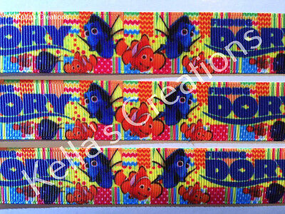 """Finding Dory Grosgrain Ribbon 7/8"""" Sold by 2 M - Craft - Hair Bow- Cake etc"""