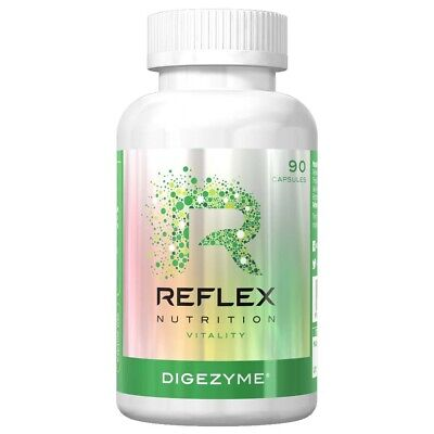 Reflex Nutrition DigeZyme Aids digestion Breaks Down Protein Carbs Fat 90 Caps