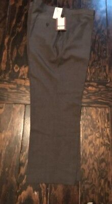 NWT MENS PANTS 42X30 Haggar Stretch Chino Heather Brown  MSRP $100