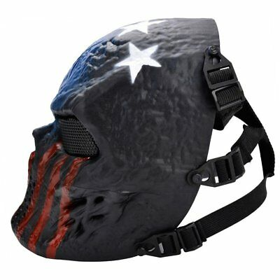 Field Equipment Mask Blue And Red Tactical Airsoft Mask Full Face Skull GT