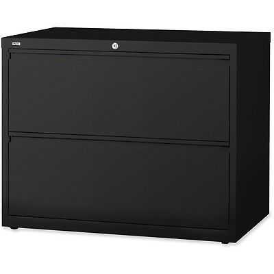 """Lorell Lateral File 2-Drawer 36""""x18-5/8""""x28"""" Black 60555"""