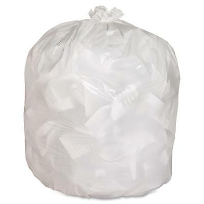 "Genuine Joe Heavy-Duty Trash Bags .8 Mil 13 Gallon 24""x31"" 150/CT White 02312"