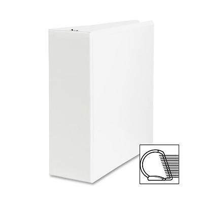 "Sparco Slant Ring View Binder, 4"" Capacity, 11""x8-1/2"", White 09801"