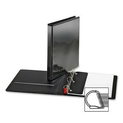 "Sparco Locking D-Ring View Binder,1 ""Capacity,11""x8-1/2"",Black 26956"