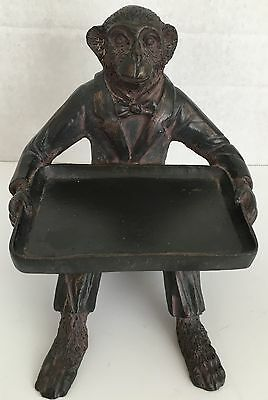 Monkey Figurine With Tray - Business Card Holder- Paperweight-Candy Dish