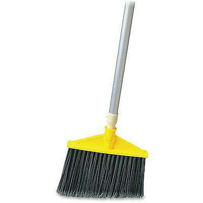 "Rubbermaid Angle Broom Poly Bristles 56""x1.5""x9.25"" Gray 638500GRA"