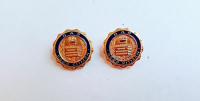 2 DAR Daughters of the American Revolution Good Citizen Pins Blue Enamel On Gold