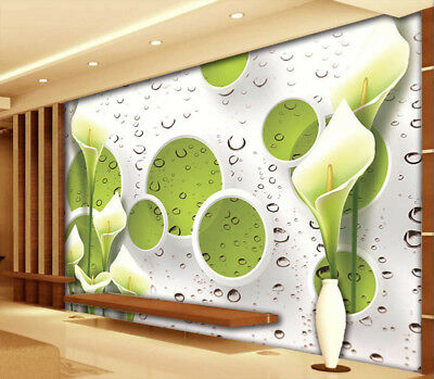 Lily And Green 3D Full Wall Mural Photo Wallpaper Printing Home Kids Decoration