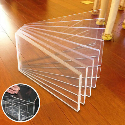 Clear Acrylic Sheet Cut to Size Plastic Panel 1-10mm Thick Greenhouse Shed UK