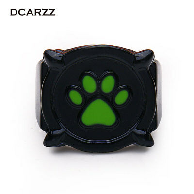 Chat Noir Green Pawprint Ring for Men Miraculous: Tales of Ladybug & Cat Noir...