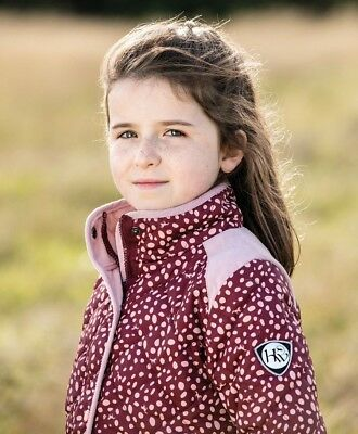 Horseware Kids HORSE PRINT JACKET Childs Padded Water Repellent Wine 3-12 years