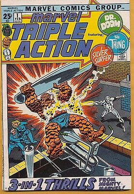 Marvel Triple Action #1 Comic 1972, Dr Doom, The Thing, Silver Surfer