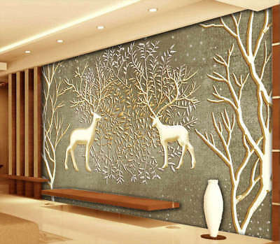 Refreshing Deer 3D Full Wall Mural Photo Wallpaper Printing Home Kids Decoration