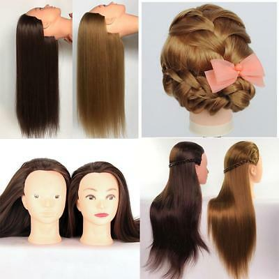 Salon Cosmetology Human Hair Hairdressing Practice Head Mannequin Training mzus