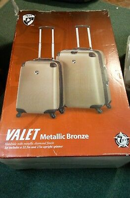 "HEYS  Spinner Luggage Set - METALLIC BRONZE-2 Pieces, 21.5"" and 27"" Upright- NIB"