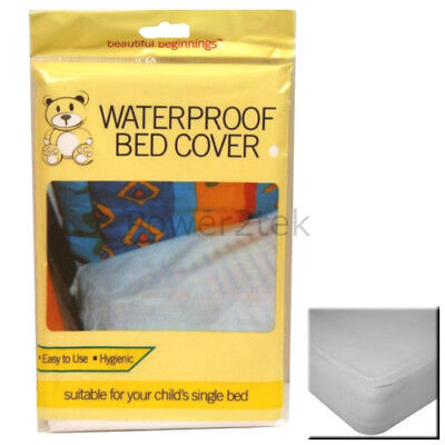 Kids/Child Waterproof Single Bed Mattress Protector Cover Baby Cot Sheet White