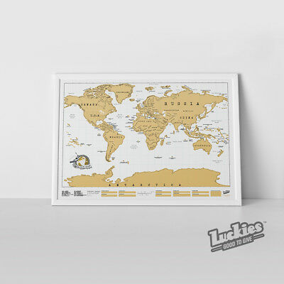 Scratch Map® Original Scratch off World Map Poster by INVENTORS OF SCRATCH MAPS