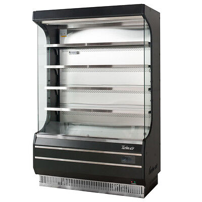 Turbo Air TOM-50B Black Vertical Open Display Case Cooler Full Height brand new