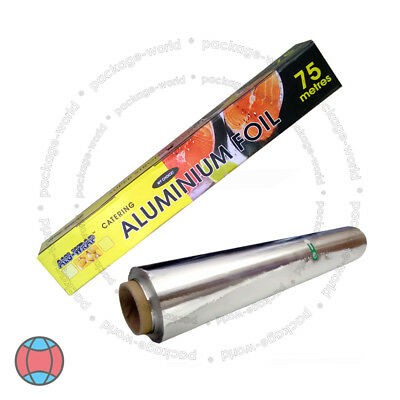 New Aluminum Kitchen Catering Foil Tin Food GRADE Baking Oven Wrap 300mm X 75m