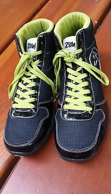 Zumba dance fitness Size 10 unisex superfeet  hight top sneaker black/yellow