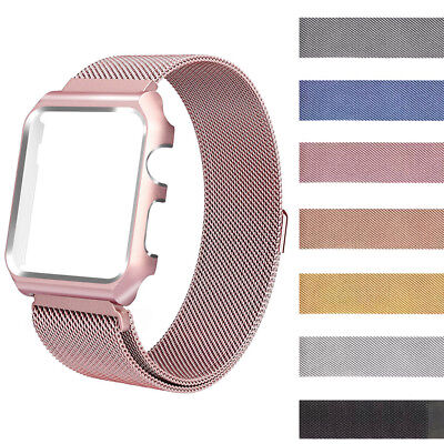 For Apple Watch Series 1&2 38/42mm!Milanese Magnetic SS Steel Wrist Band Strap
