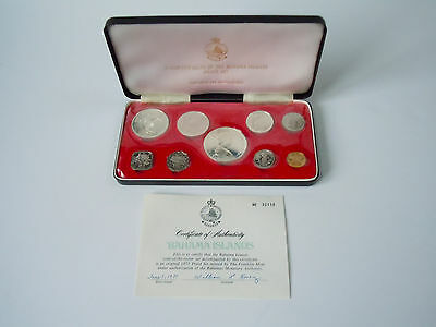 1971 Bahama Islands 9 Coin Proof Set _ Coins of the Realm _ Franklin Mint COA