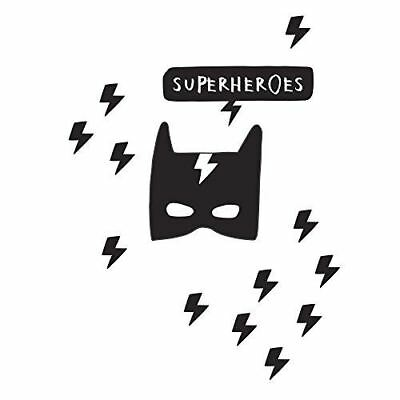 South Shore Furniture 100099 Dreamit Superheroes Wall Decals, Black