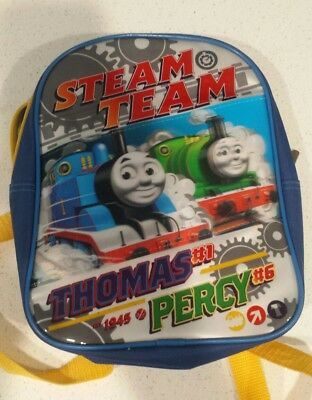 Thomas the Tank Engine Steam Team Percy Backpack Childrens Bag 11x9 Inches