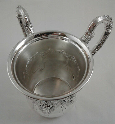 """Washing Cup - 22 ounces - Grape Design - Sterling Silver 925 - 296 gr. 4.5"""" high"""